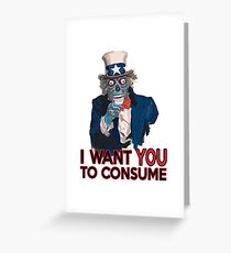 They Live Uncle Sam Greeting Card