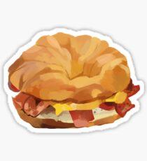 Croissant Sandwich Sticker