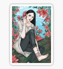 flowers & scars Sticker