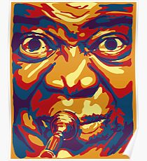 Louis Armstrong Colorful Portrait Design  Poster