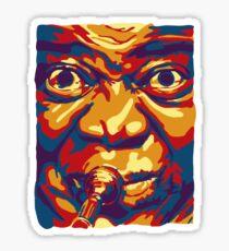 Louis Armstrong Colorful Portrait Design  Sticker
