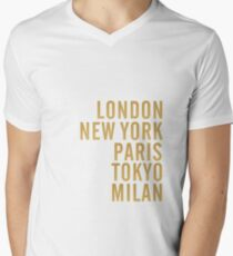 Cities on Pink T-Shirt