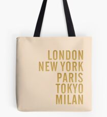 Cities on Pink Tote Bag