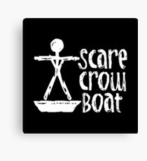 Scarecrow Boat Canvas Print