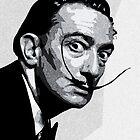 Salvador Dali Black Portrait by amillusions