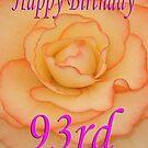 Happy 93rd Birthday Flower by martinspixs