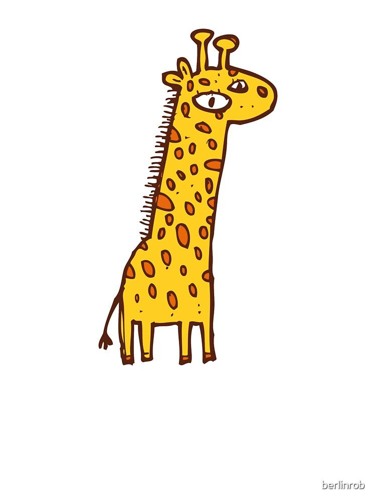 U/&MFashions Funny Giraffe Face Children Cotton Tee Cartoon