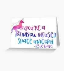 Du bist ein Regenbogen-Infusions-Einhorn (Parks & Recreation) Grußkarte