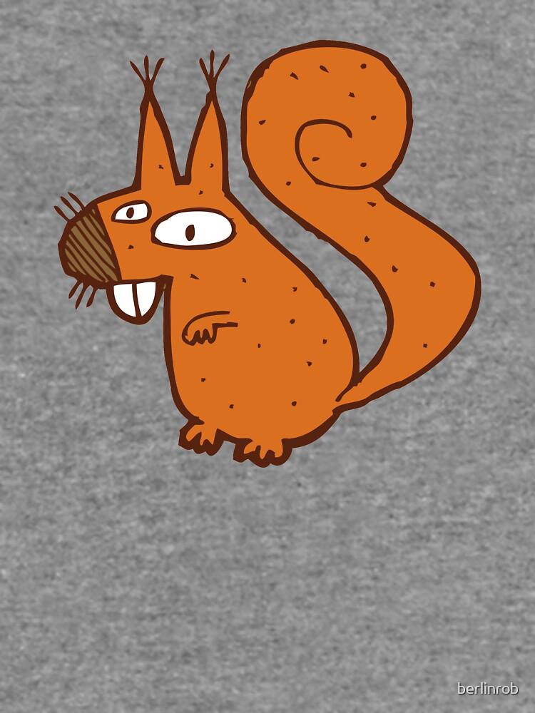 Cute cartoon squirrel by berlinrob