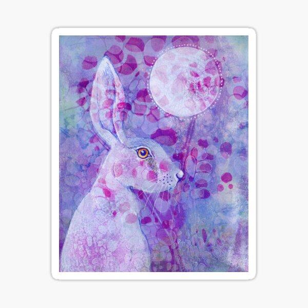 The Purple Hare Sticker