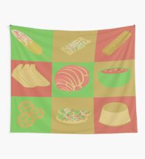 Mexican Foods Vectors Wall Tapestry
