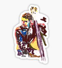 Jazz Bass player Sticker