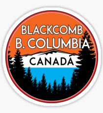 SKIING BLACKCOMB BRITISH COLUMBIA CANADA SKI SNOWBOARD MOUNTAINS 3 Sticker