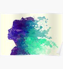 Watercolour Woman Poster