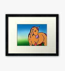 Orange Horse Framed Print