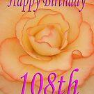 Happy 108th Birthday Flower by martinspixs