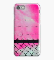 Pink Sky & Barbed Wire iPhone Case/Skin