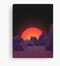 80s Vaporwave Retro Canvas Print