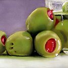 Staged Olives pastel painting by ria hills