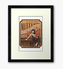 The Nutty Brewnette, American Brown Ale Framed Print