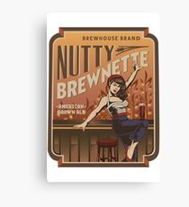 The Nutty Brewnette, American Brown Ale Canvas Print