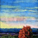 Early Dusk landscape painting by ria hills