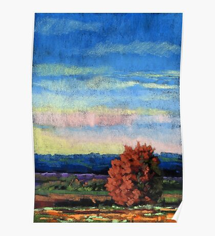 Early Dusk landscape painting Poster