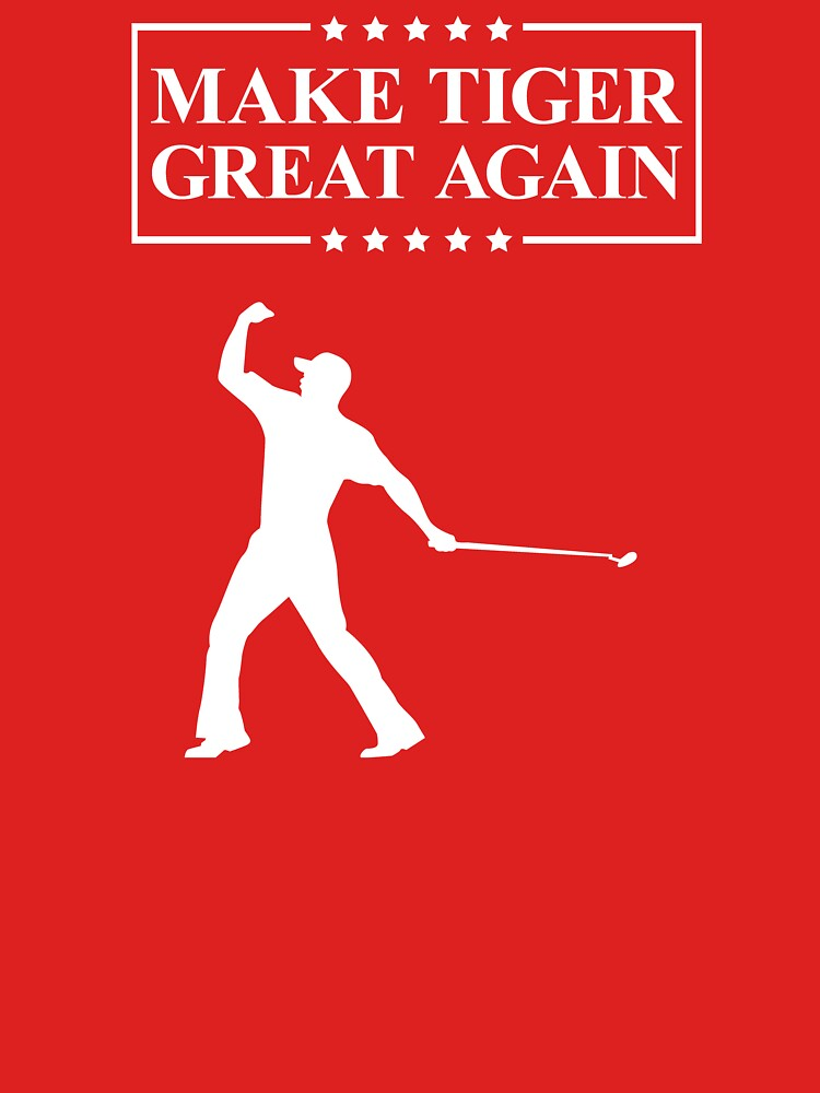 Make Tiger Great Again T-Shirt | Funny Golf T-Shirt by TDAVEN