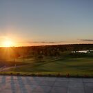 Autumn Sunset over a Golf Course by Phill Sacre