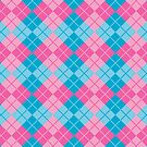 Pink-Blue Argyle by Lisann