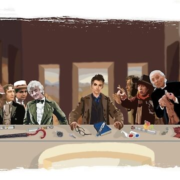 The last supper of the Doctor by lleganyes