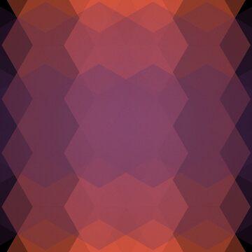 Purple-Orange-Hexagonal Pattern by colinbrunt