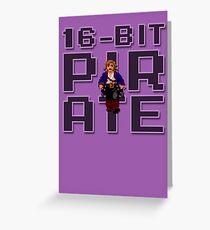 Guybrush - 16-Bit Pirate Greeting Card
