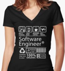 Software Engineer Women's Fitted V-Neck T-Shirt