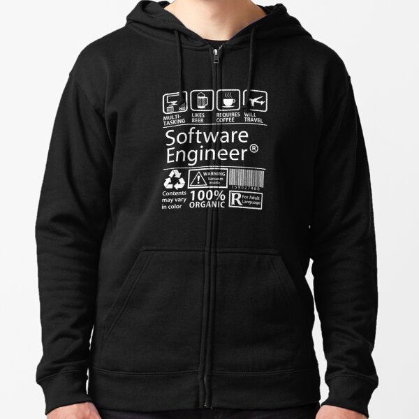 Software Engineer Zipped Hoodie
