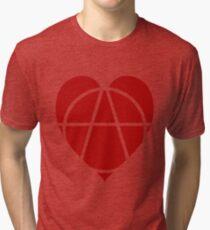 Red Anarchist Heart Tri-blend T-Shirt