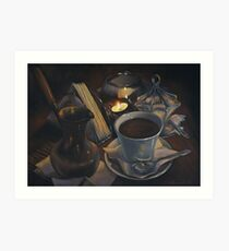 Still life with coffee Art Print