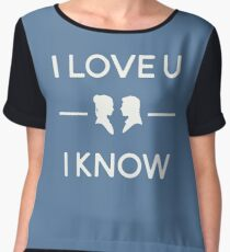 Star Wars - I Love You, I Know (color) Women's Chiffon Top