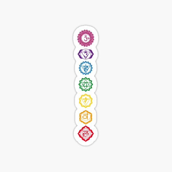 7 Balanced Chakras Sticker