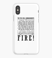 It's the TEN DUEL COMMANDMENTS iPhone Case/Skin