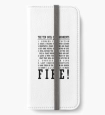 It's the TEN DUEL COMMANDMENTS iPhone Wallet/Case/Skin