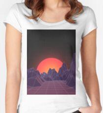 80s Vaporwave Retro Women's Fitted Scoop T-Shirt