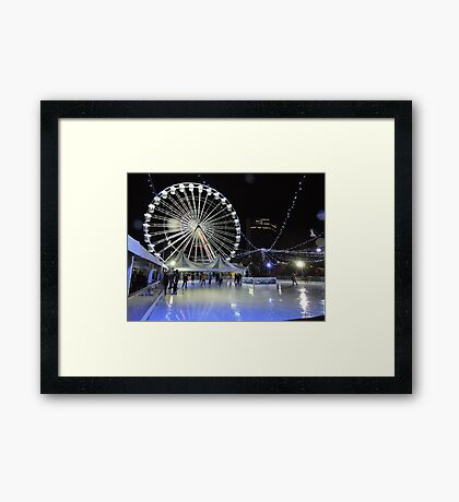 Skating Beneath The Wheel Framed Print