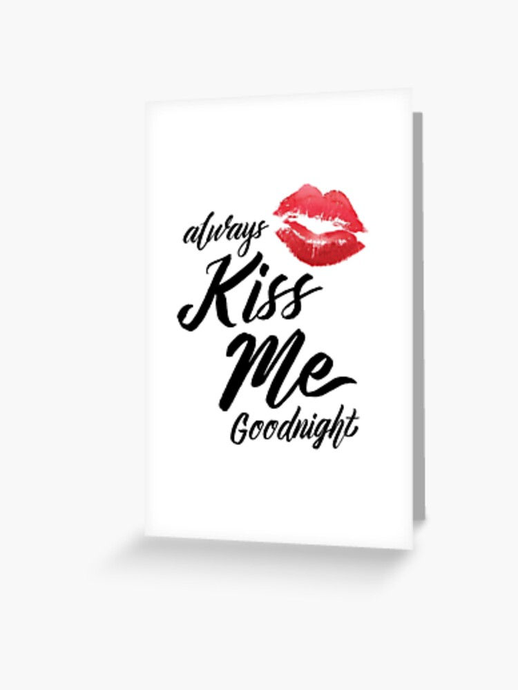 Einen gute nacht kuss