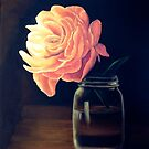 Flower and Mason Jar by Colette Hope Marks