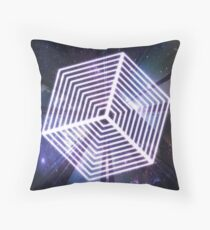 Trippy Glowing Cube Illusion Throw Pillow