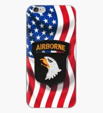 101st Airborne - American Flag iPhone Case