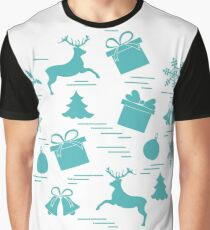 Vector illustration of different new year and christmas symbols.  Graphic T-Shirt