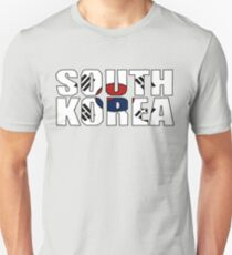 South Korea Font with Korean Flag Unisex T-Shirt