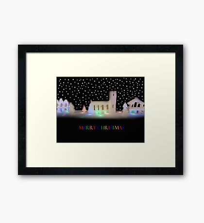 Silent Night: Bricks and Stars Framed Print